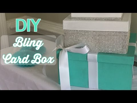 Diy Bling Card Box Youtube