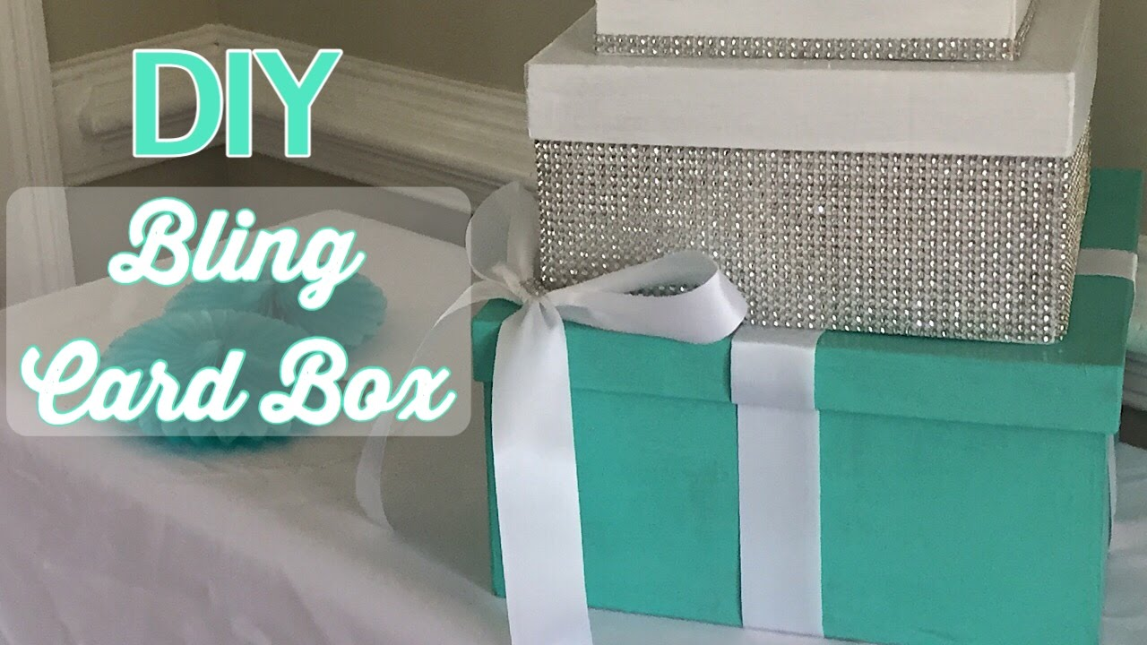 Diy Wedding Gift Box: DIY Bling Card Box