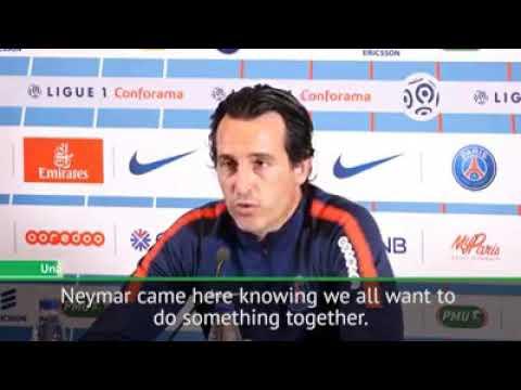 Unai Emery talks about neymar and cavani penalty dispute