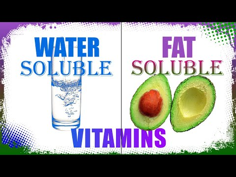 Water Soluble And Fat Soluble Vitamins