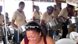 Tropical Steel band at Lemon Arbor village, Barbados,  West Indies