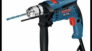 Unpacking / unboxing impact drill Bosch GSB 13 RE 0601217100