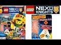 Журнал Лего Нексо Найтс №2 Февраль 2017 и игрушка Мерлок из мультфильма Lego Nexo Knights 3 сезон