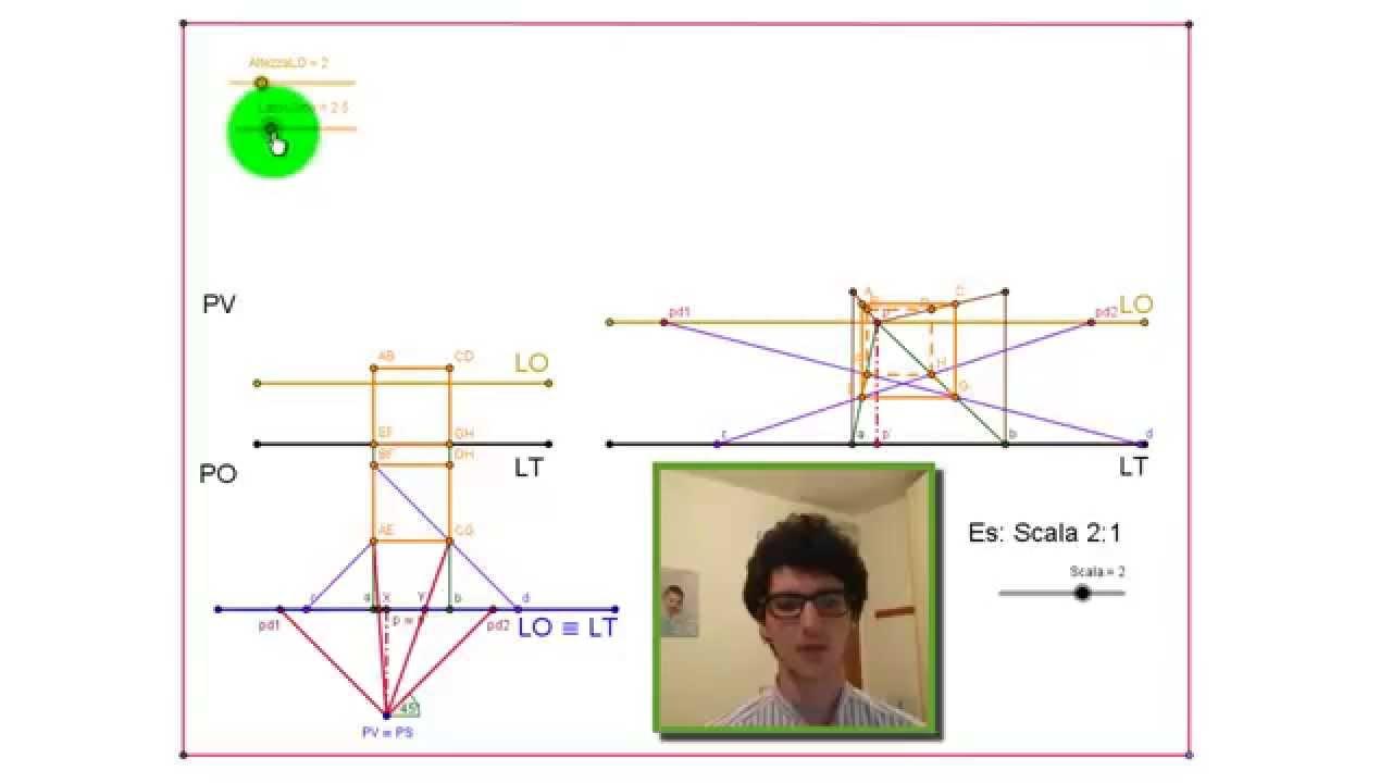 Prospettiva centrale di un cubo nuova versione youtube for Disegni di case in prospettiva