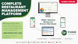 Call on +91 9850448847 more features and details. free restaurant billing software selling all across india. tmbill restaurants software(gst ready) b...