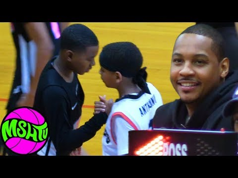 Carmelo & LeBron's Sons Meet in Alabama - Blue Chips vs Black Ops
