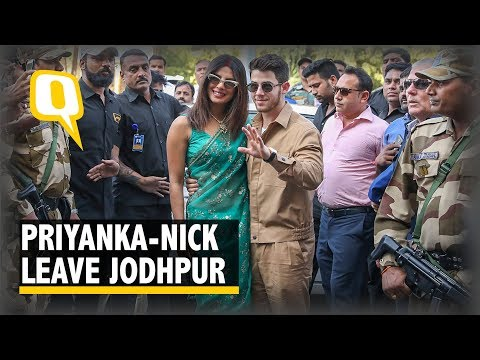 Priyanka Chopra and Nick Jonas Leave from Jodhpur After Their Wedding.