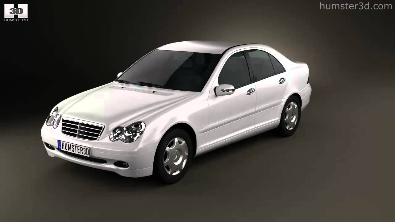 mercedes benz c class w203 sedan 2005 by 3d model store. Black Bedroom Furniture Sets. Home Design Ideas