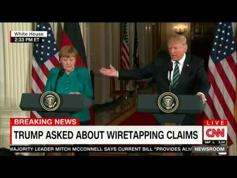 Thumbnail: Trump jokes about wiretapping with Merkel