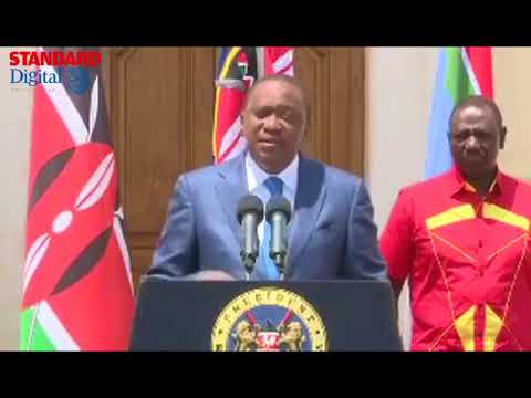 Uhuru Kenyatta's full speech at State House