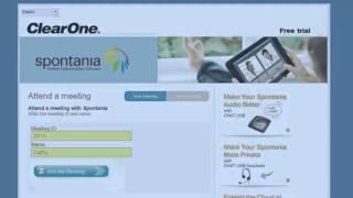 ClearOne Spontania training.