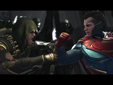 Injustice 2 : Green Arrow Vs Superman & Bizarro - All Intro/Outros, Clash Dialogues, Super Moves