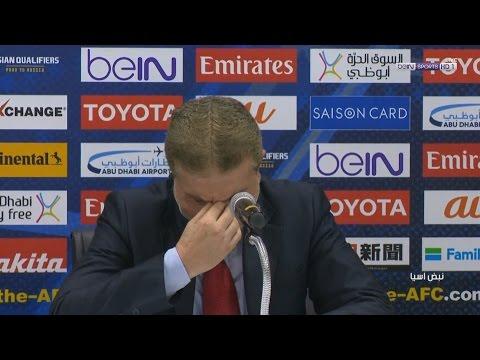بكاء مدرب منتخب سوريا أيمن الحكيم بعد الفوز على أوزبكستان وتعليق مقدم beIN SPORTS حمد جاسم