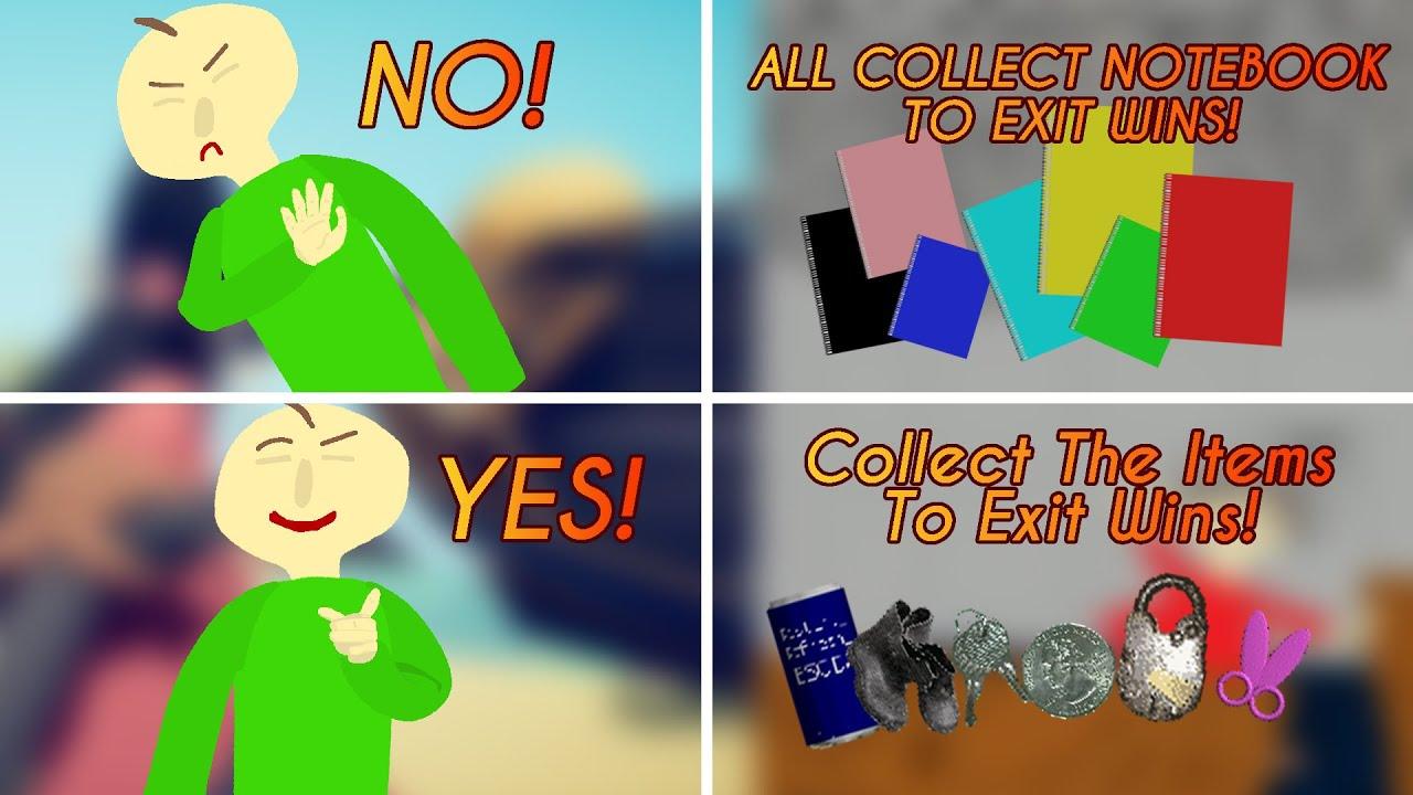 Baldis Basics But You Collect The Items! [Baldi's Basics Mod]