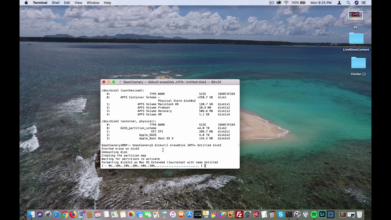 Initialize Hard Drive Using macOS Command-Line Tutorial