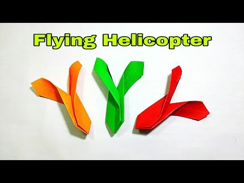 Paper Flying Helicopter || Origami Flying Helicopter || DIY