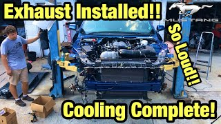 Rebuilding My Totaled Wrecked 2018 Ford Mustang GT From Copart Salvage Auction Cooling Complete