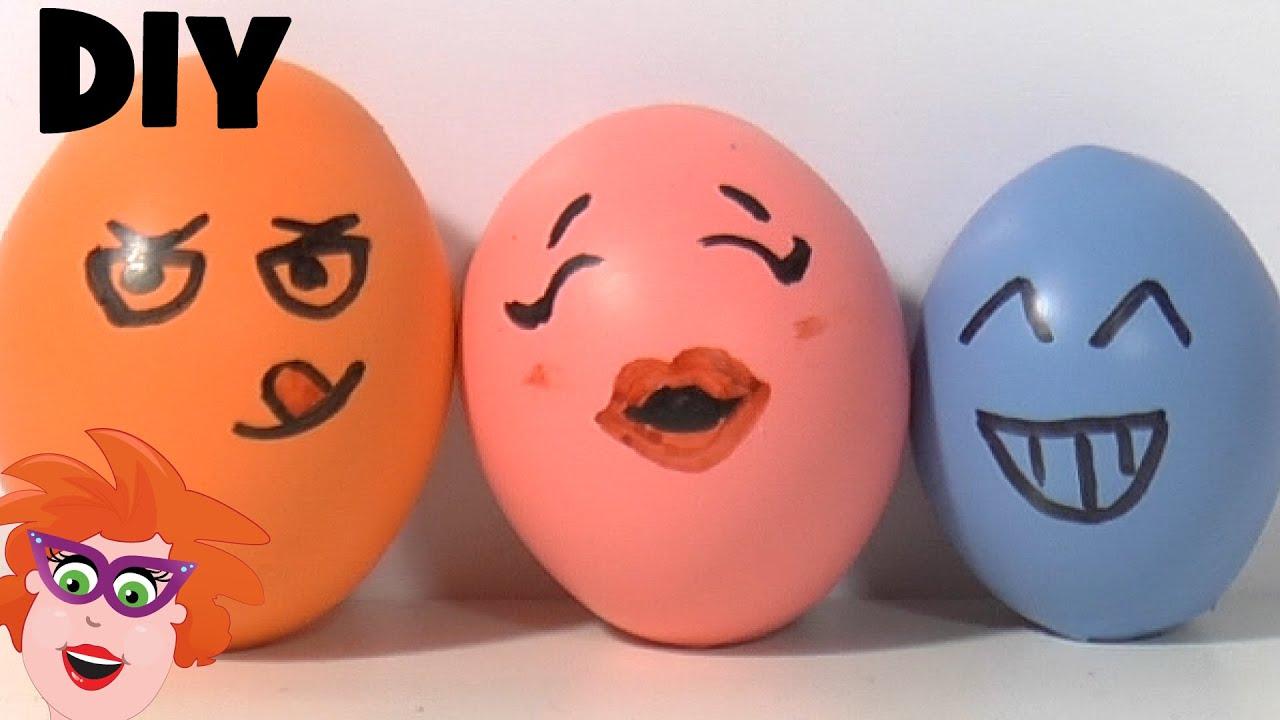 Fonkelnieuw DIY - zelf Stressballen maken van ballon en play-doh - English LM-32