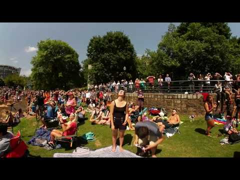 360° Total Solar Eclipse in Greenville, SC 2017 (Crowd Reaction)
