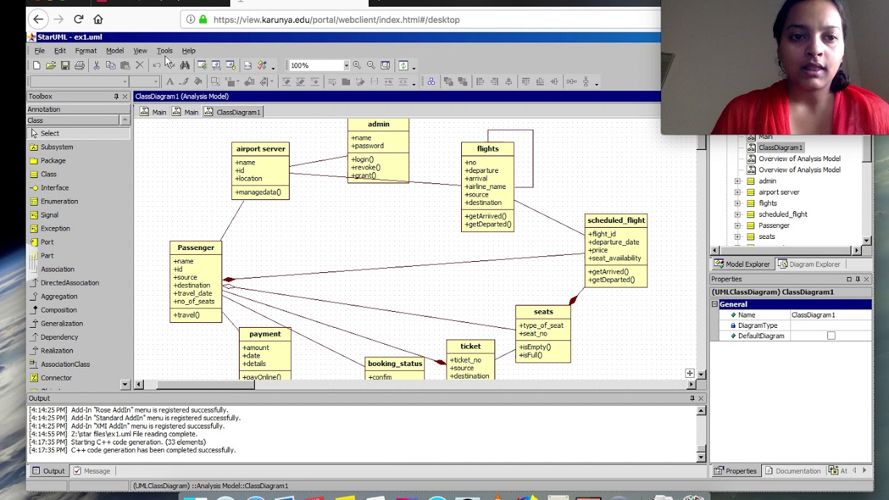 Forward And Reverse Engineering For Class Diagram