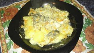 Вкусная рыба с картошкой в мультиварке Редмонд видео рецепт