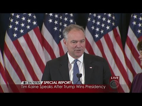 Tim Kaine Concession Speech