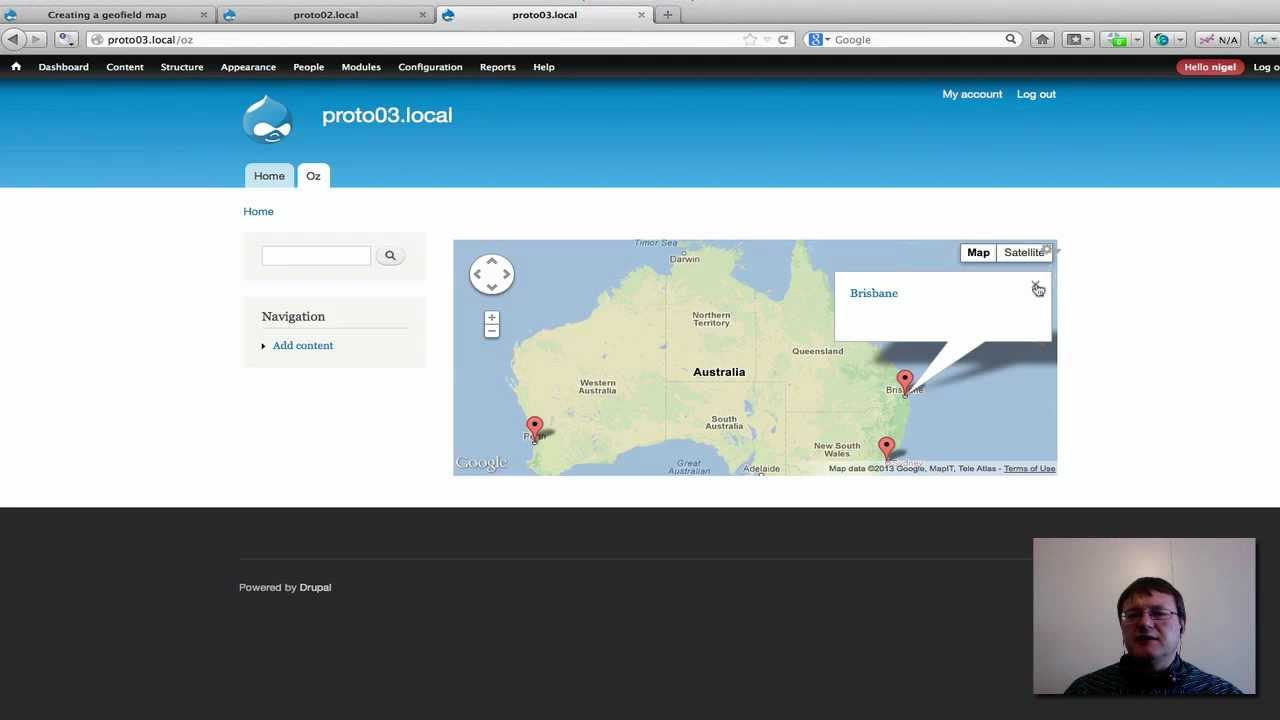 how to create map in drupal 7
