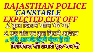 RAJASTHAN POLICE CANSTABLE EXPECTED CUT OFF 2018