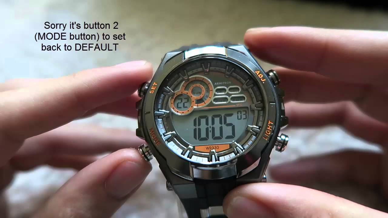 How To Use An Armitron 4 Button Digital Watch Set Different