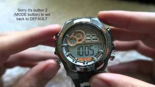 How to use an Armitron 4-Button Digital Watch - Set Different Functions (Change Date, Set Timer etc)