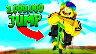 I JUMPED 1,000,000,000 FEET to MAX HEIGHT.. (Roblox)
