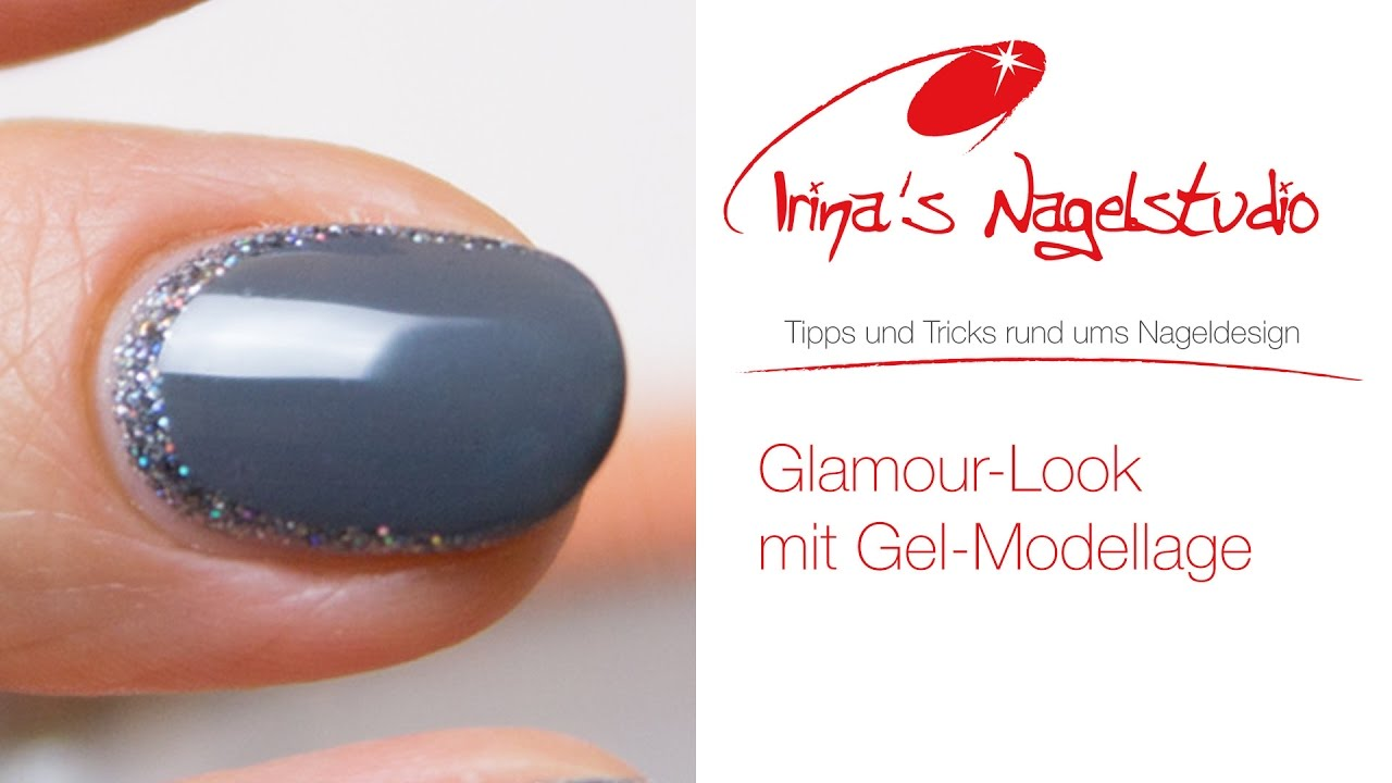 Nailart Nageldesign Glamour Look Mit Einem Hauch Von Glitzer