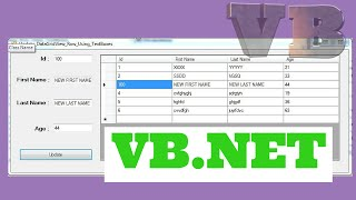 VB.NET - How To Update Selected DataGridView Row With TextBox Using VB.NET [ With Source Code ]