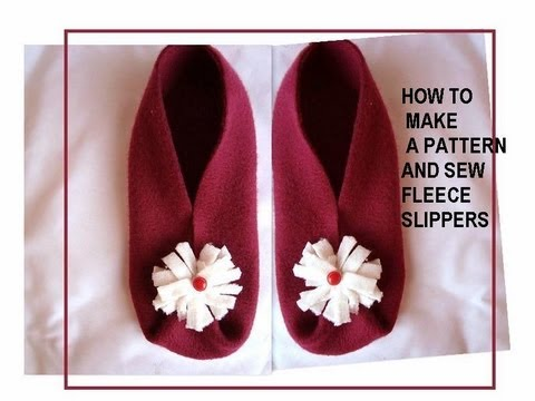 photograph about Free Printable Fleece Sock Pattern called How toward deliver a behavior, and sew fleece slippers, sewing for inexperienced persons