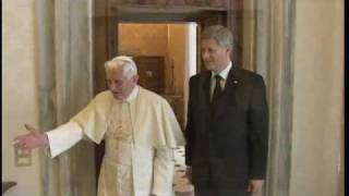 Canadian Prime Minister Stephen Harper meets with Benedict XVI