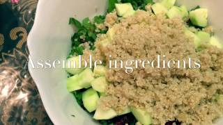 Signature Rhubarb Swiss Chard Quinoa Salad