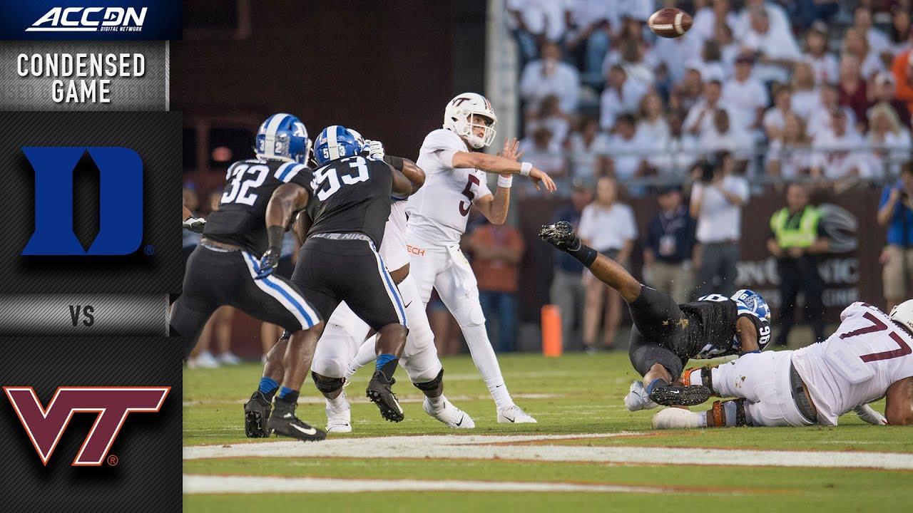 Duke Blue Vs Virginia Tech Condensed Game Acc Football 2019 20 Youtube