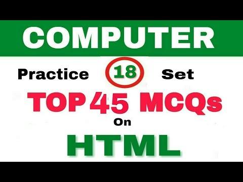 Part 18 HTML 1 II MCQs II Bank I SBI II IBPS I Computer Operator I Uppcl I Ccc I Upsssc I Highcort