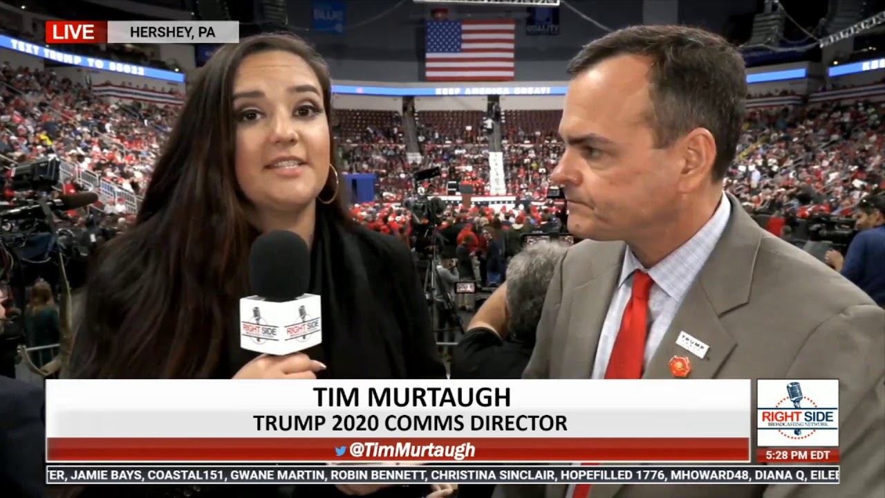 RSBN Interview with Trump 2020 Comms Director Tim Murtaugh in Hershey, PA 12/10/19 RSBN
