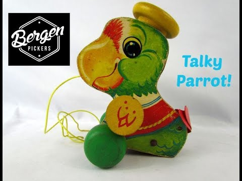 Fisher Price Talky Parrot #698 Pull Toy From 1963 By Fisher Price Toys