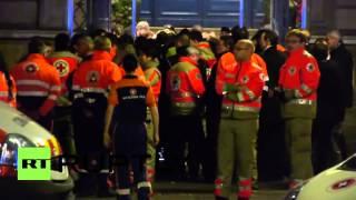 Paris terror attack survivors arrive at makeshift support centre