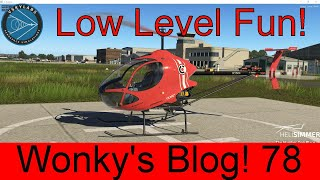 X Plane 11.40. Low Level Joy Cicare 8 Helicopter. Wonky's Blog! 78. VSKYLABS Aerospace Simulations.