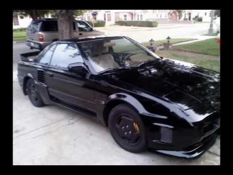 Toyota Mr2 1987 >> 1987 BLACK TOYOTA MR2 w/ BODY KIT!!!! - YouTube