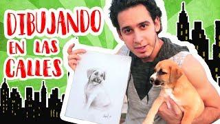 Dibujando en las Calles de Cuba, Holguín | Dibujo a un perrito | HaroldArtist