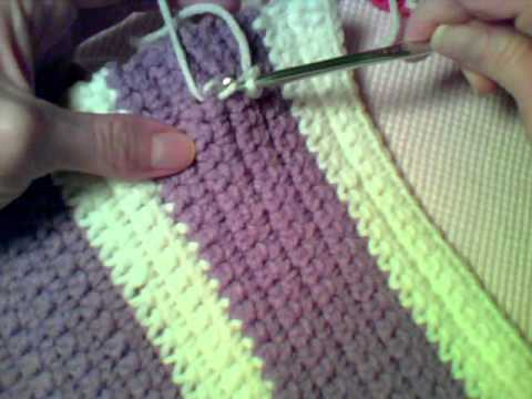 How To Crochet Writing On Single Crochet Fabric With Slip Stitches