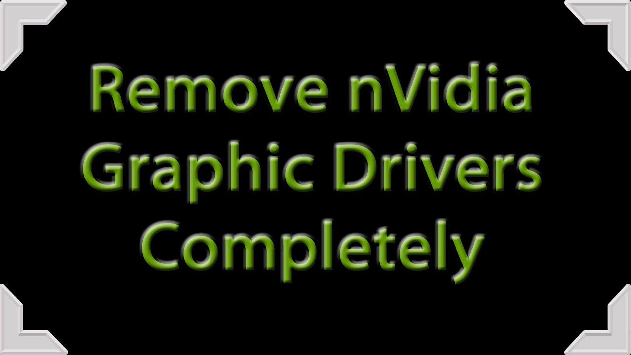 uninstall geforce drivers windows 10