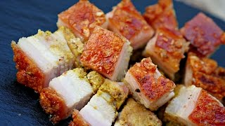 HOW TO MAKE ROASTED PORK BELLY with CRISPY skin - Lechon - Liempo - Siu Yuk - Crackling