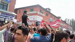 PHE Daily wagers one day protest kashmir partab park