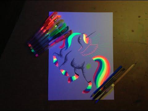 Timelapse Drawing Blacklight Neon Minimal Pony-Wubbl3s - YouTube