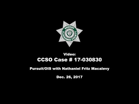 Official video of Clackamas County pursuit, shootout